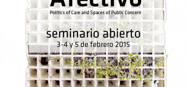El seminario público Urbanismo Afectivo está basado en una serie deencuentros, visitas, conferencias en la ciudad de Madrid con […]