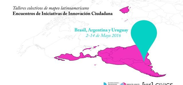 Durante el mes de mayo la plataforma CIVICs acomete diversos talleres de mapeo ciudadano en variospaíseslatinoamericanos. Simultáneamente se realizarán talleres […]